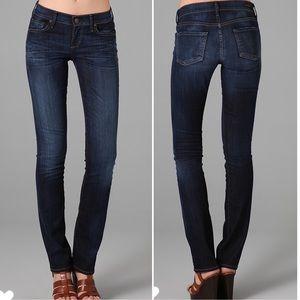 COH Ava Low rise straight leg dark wash jeans 26